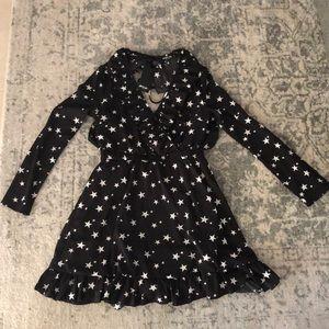 Blackened White Star Dress
